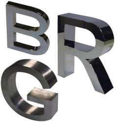 Stainless Steel Name Letters