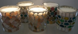 Mosaic Glass Candle