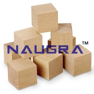 1 Inch Plain Wooden Cubes Set Of 100 For Maths Lab Naugra Export