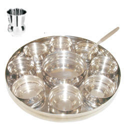 S.S Belly Indian Thali Plate  sc 1 st  IndiaMART & Stainless Steel Dinner Plate - Manufacturers \u0026 Suppliers in India