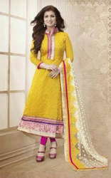 Yellow And Majenta Suit