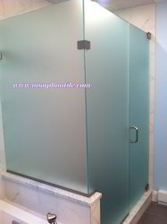 Frosted Glass Toilet Partition Design