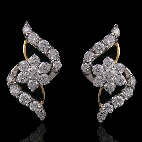 boudov amour gold shield products jewlery vert exclusive studs earrings diamond