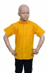 Shirts & T-Shirts Plain Boys Cotton Shirt