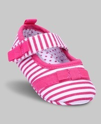Pink & White Striped Shoes