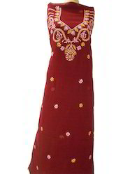 Hand Embroidered Lucknow Chikan Suit