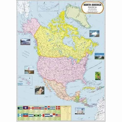 Continent Maps Australia Map Manufacturer From New Delhi - North america map in gujarati