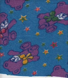 Teddy Print Baby Sheet