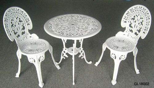One Step Furniture White Cast Iron Chair