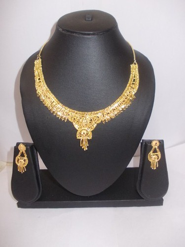 1 gram gold plated designer necklace set at rs 900 sets gold 1 gram gold plated designer necklace set mozeypictures Image collections