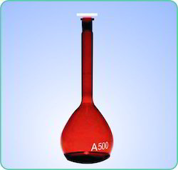 Volumetric Flask Amber