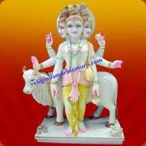 Lord Duttatrya Marble Statue