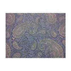 Block Print Paisley Blue Fabrics