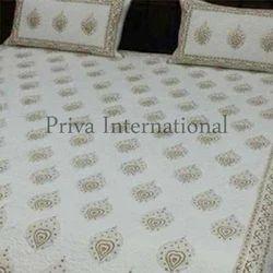 Cotton Block Printed Bed Sheet