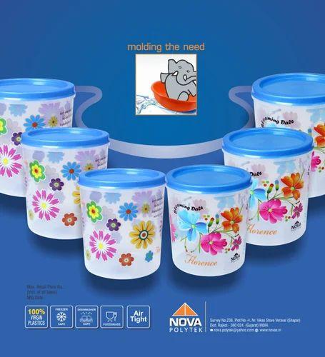 Plastic Household Containers, Plastic Ke Ghar Ke Bartan, घरेलू ...
