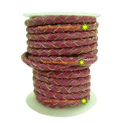 Braided Leather Cords with Natural Edges