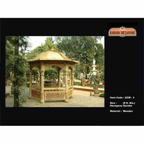 Classical Gazebos Wooden Hexagonal Gazebo Manufacturer From New Delhi