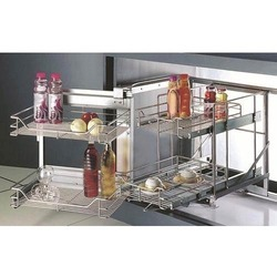 Stainless Steel Magic Corner Kitchen Unit