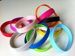 Multicolor Casual Wear Silicone Colorful Wristbands