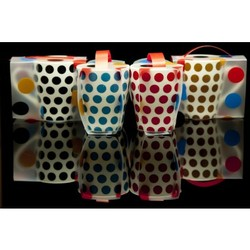 Polka Dots Mug  Covered In A Fabulous Matching Sleeve