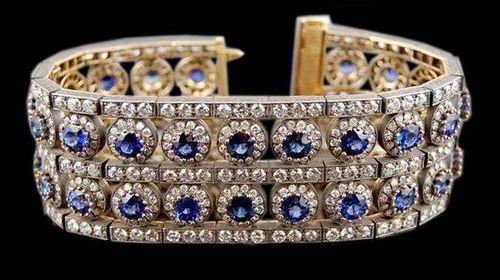 Colored Stone Diamond Bracelet at Rs piece s