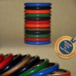 Solid Colors - Brass Resin Designer Bangles
