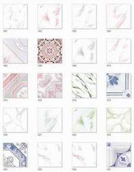 White Matt Series Floor Tile, 10-15 mm