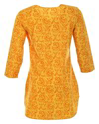 Yellow Women Tunic