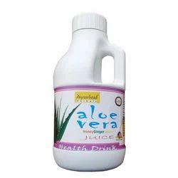 Aloe Vera Juice with Honey, Ginger, Lemon
