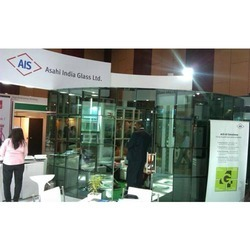 Blue And White Exhibition Stall Fabricators, Size: 60 Sq Mtr