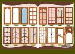 Wooden window with shutter designs for Wood window design image
