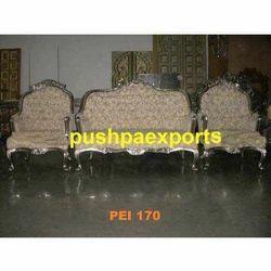 White Metal Sofa Set