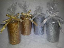 Gold & Silver Pillar Candle