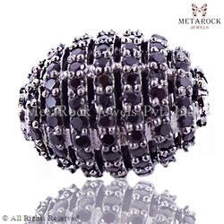 Black Spinel Beads Spacer Finding