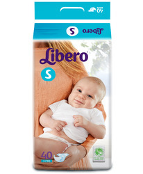Libero Diapers Small (3-7 Kg) Pack of 40