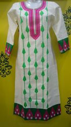 Flex Cotton Embroidered Kurti