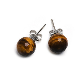 Tiger Eye Stone Earring