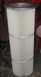 Spun bonded Polyester TFI Dust Collector Pleated Cartridge Filter, for Air Filter