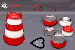 Coloured Stainless Steel Tiffin Ware Diwali Gifting/Corporate Gifting