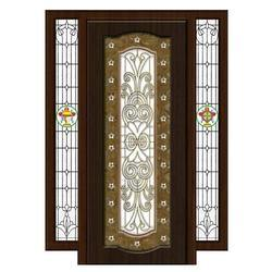 pooja doors with glass
