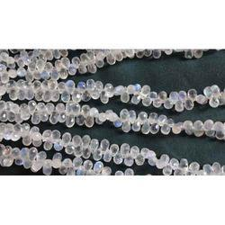 White Rainbow Moonstones Best Cut Tear Drops