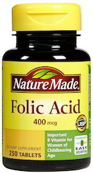 Nature Made Folic Acid, Packaging Size: 250 Tablets, Packaging Type: Bottle