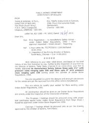 Indian Boiler Regulation Certificate