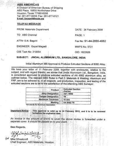 Awards & Memberships of Jindal Aluminium Limited | Bareja