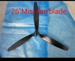 Black Aluminum Mist Fan Blade, Blade Size: 650mm