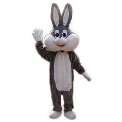 Grey And Brown Plain Fur Cartoon Costume