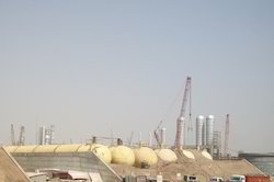 Mounded Propane Storage Tank