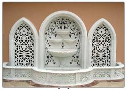 White Stone Wall Fountain