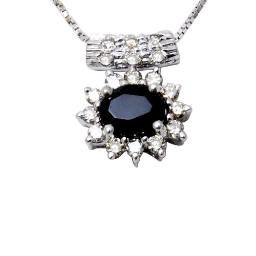 Blue sapphire diamond pendant at rs 24065 piece sitapura jaipur blue sapphire diamond pendant aloadofball Image collections