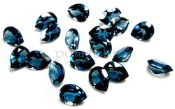 London Blue Topaz Pear Cut Gemstone